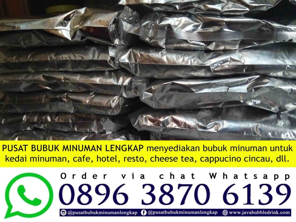 JUAL BUBUK MINUMAN BUBBLE DRINK | WA 089638706139